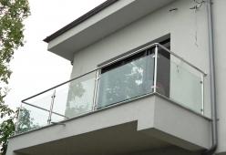 Balcon inox cu sticla model 10