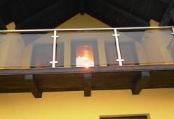 Balcon inox cu sticla model 11