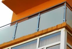 Balcon inox cu sticla model 12