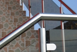 Balustrada inox cu sticla model 03